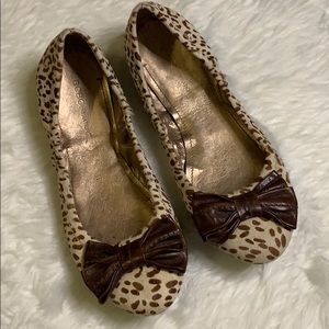 BCBGeneration Leopard Flats with Bow